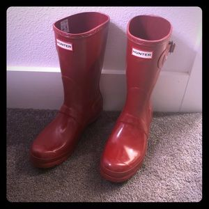 Hunter Red Rain Boots